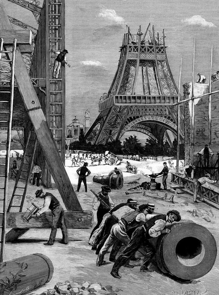 Veja como foi a construção da Torre Eiffel, projetada por um engenheiro civil